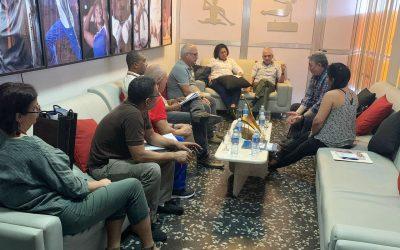 Reunión en el INDER de Cuba.