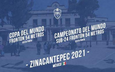 ZINACANTEPEC SEDE DE LAS COMPETICIONES FIPV FRONTÓN 54M 2021