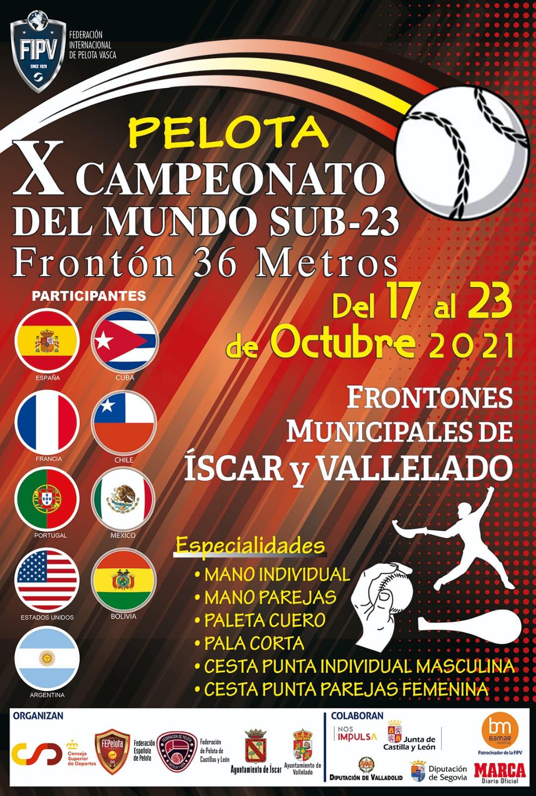 X Campeonato del Mundo Sub-23 Frontón 36 metros