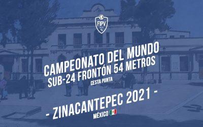 X Championnat du Monde U-24 Fronton 54 mètres