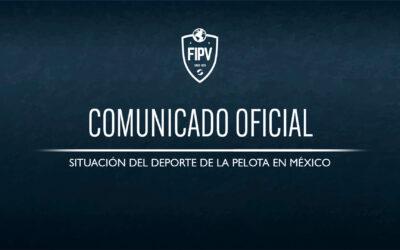COMUNICADO OFICIAL: Situación de la Pelota en México